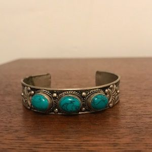 Mock turquoise resizable cuff